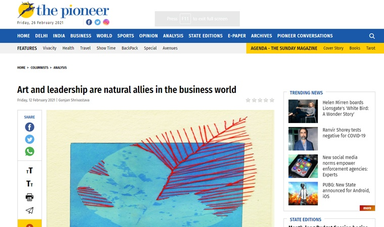 Art and leadership are natural allies in the business world