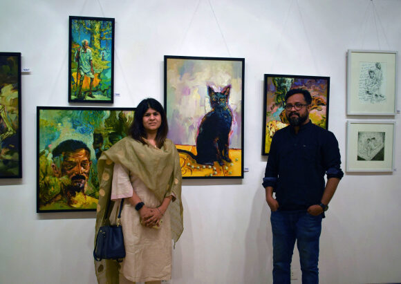Scribbles for nothing – Review on painting exhibit by artist R.C Prakash