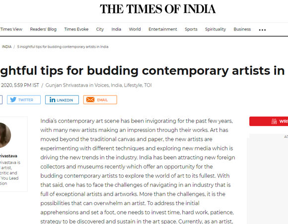 5 insightful tips for budding contemporary artists in India