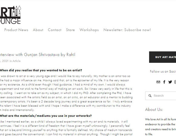 An Interview with Gunjan Shrivastava by Rahil